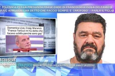 Daniele Bossari e la presunta omofobia di Franco: 'sarebbe gravissimo, ne parleremo lunedì in puntata'