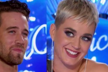 American Idol, Katy Perry ci prova spudoratamente con un concorrente – video