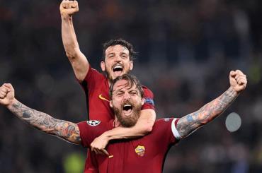 Epocale Roma in semifinale Champions, la festa dagli spogliatoi – video