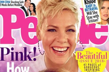 Pink è la donna più bella del mondo, la cover di People