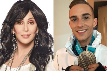 Cher elogia Adam Rippon: 'è coraggiosamente diverso, è favoloso'