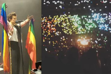 Harry Styles, bandiera e spalti rainbow al concerto londinese – foto e video