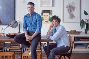 Zachary Quinto e Miles McMillan presentano il loro loft d'amore da 3.2 milioni di dollari – video