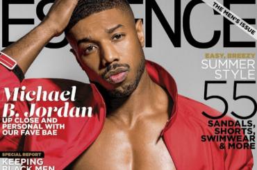 Michael B. Jordan è un bono che levate su Essance, la cover