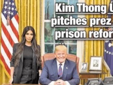 Donald Trump incontra Kim Kardashian  alla Casa Bianca: la geniale cover del Daily News