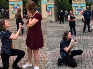 Proposta di nozze 'doppia' tra due ragazze – il video virale