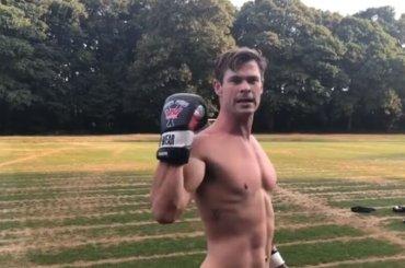 Chris Hemsworth gnocco si allena per il reboot di Men in Black, il video Instagram