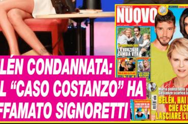 Belen ha diffamato Riccardo Signoretti, condannata a pagare