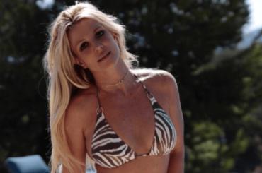 Britney Spears gnocca zebrata sui social, le foto