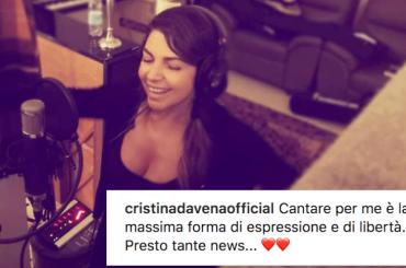 Cristina D'Avena in studio di registrazione, arriva DUETS 2