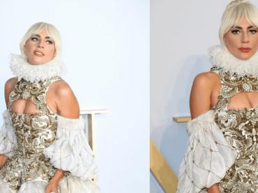 A Star is Born, Lady Gaga vestita Alexander McQueen alla première londinese – foto