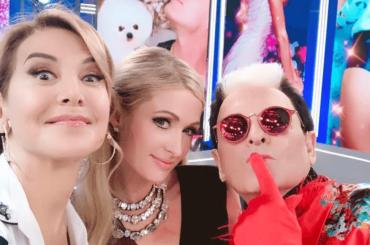 Barbara D'Urso e il selfie con Paris Hilton e Cristiano Malgioglio dopo Domenica Live