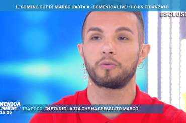 Marco Carta fa coming out a Domenica Live: 'sono gay e fidanzato' – VIDEO