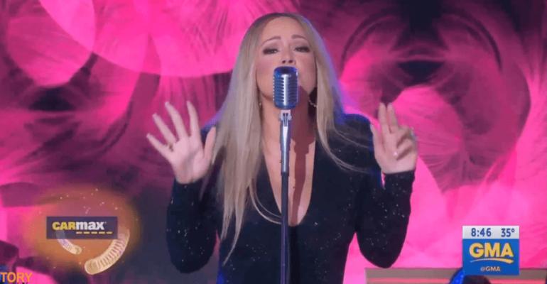 Mariah Carey, primo  live tv dopo l'uscita del disco con 'With You' – video