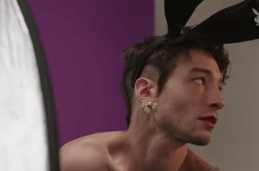 Ezra Miller 'coniglietta' per Playboy, foto e video del dietro le quinte