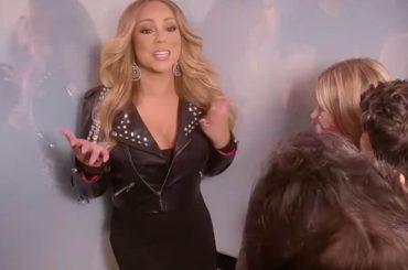 Mariah Carey in ascensore con i suoi super fan, lo sketch video