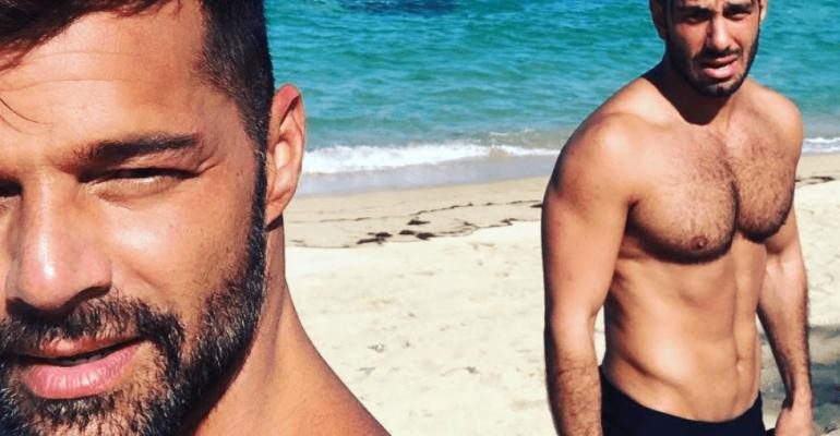 Ricky Martin e Jwan Yosef in costume, selfie da urlo da Porto Rico – le foto