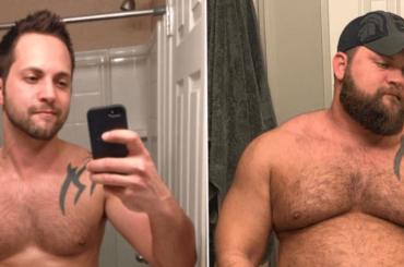 Da twink a bear in 5 anni, la trasformazione di  Dusty Fuller  è virale – foto