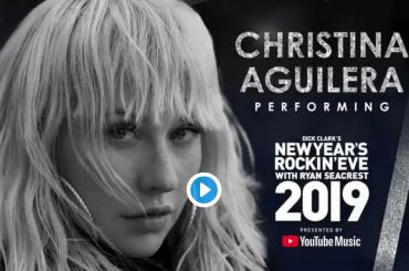Christina Aguilera, Capodanno a Time Square