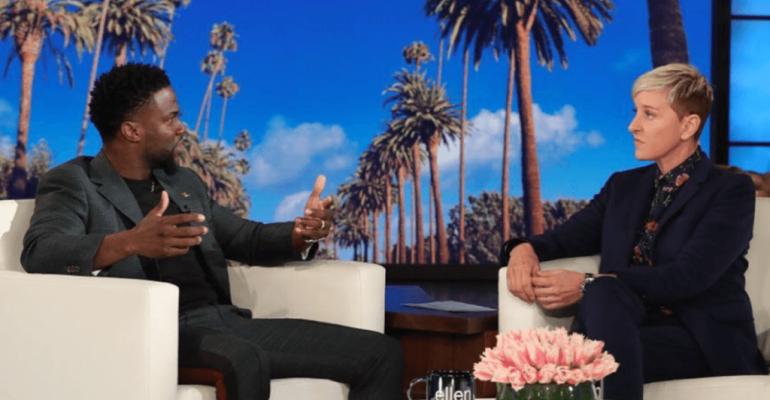 Epic Fail Ellen, ospita Kevin Hart dopo lo scandalo omofobia e lo difende