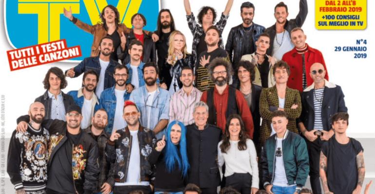 Sanremo 2019, ecco la tradizionale copertina di Tv Sorrisi e Canzoni