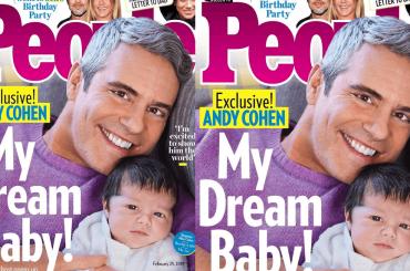 Andy Cohen papà single con il figlio Benjamin sulla copertina di People – la foto