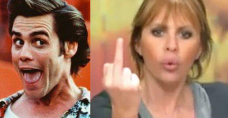 """Jim Carrey ad Alessandra Mussolini: """"Se vuole può capovolgere la vignetta e vedere il nonno che salta di gioia"""" – VIDEO"""