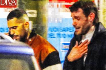 """Mahmood, litigio in strada con """"l'amico del cuore"""" (in lacrime) – le foto"""