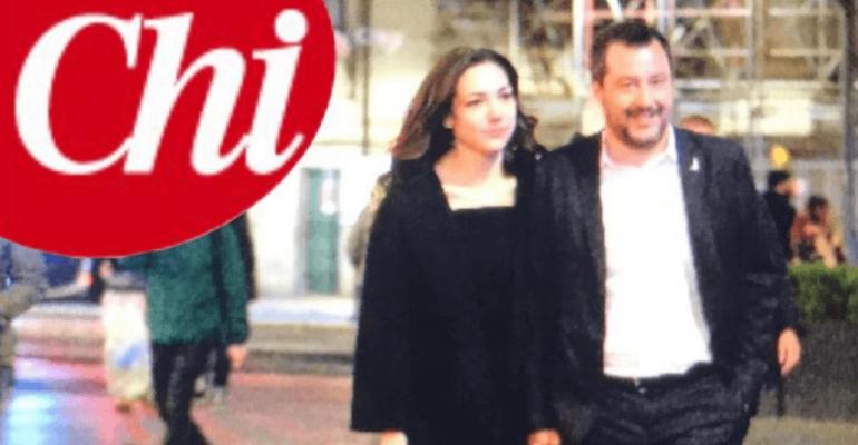 Matteo Salvini, prima foto mano nella mano con la 26enne Francesca Verdini (figlia di Denis)