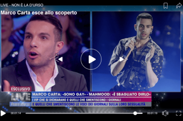Marco Carta vs. Mahmood: 'si contraddice sul coming out' – VIDEO