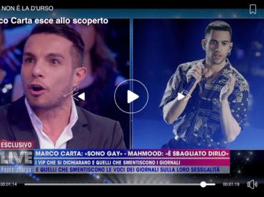 Marco Carta vs. Mahmood: 'si contraddice sul coming out' – VIDEO