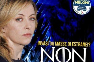 Giorgia Meloni cita Game of Thrones per fare propaganda politica: 'fermiamo gli estranei'