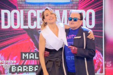 """Dolceamaro, primo """"live tv"""" per Cristiano Malgioglio e Barbara D'Urso – video"""