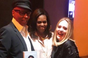 Michelle Obama insieme a RuPaul e Adele, la foto dell'anno