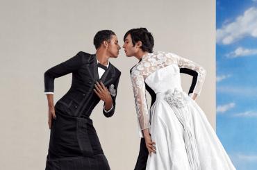 Ezra Miller e Keiynan Lonsdale in abiti femminili per Vogue, foto