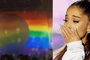 Coachella 2019, Ariana Grande chiude il concerto con un gigantesco bandierone rainbow