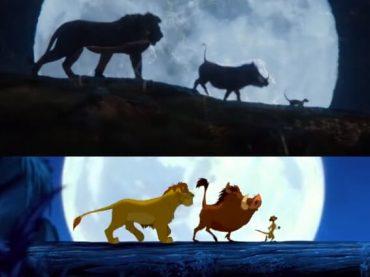 Il Re Leone, il clamoroso nuovo confronto tra live-action e animazione