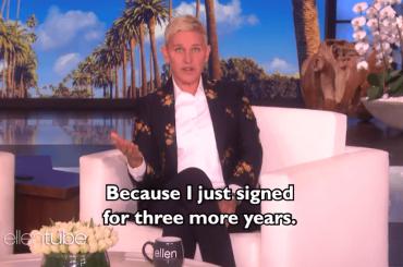 Ellen DeGeneres, rinnovo per altri 3 anni: l'annuncio video