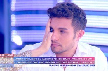 Marco Carta in lacrime da Barbara D'Urso ma il padre della sua amica rilancia: 'mia figlia l'ha salvato'