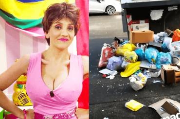 """Lucia Ocone torna Veronika tra la sporcizia di Roma: """"MONNEZZO', questo è tutto monnezzene cotto a legna"""" – VIDEO"""