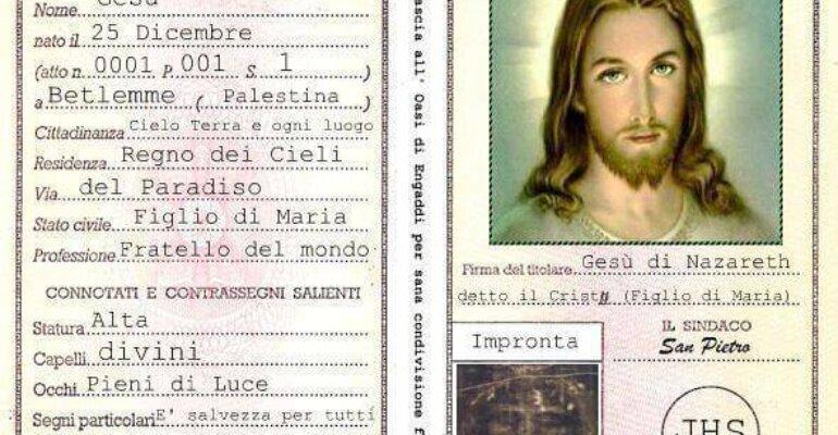 """Gesù detto """"il Cristo"""", l'esilarante carta d'identità di Radio Maria: """"Capelli DIVINI"""""""
