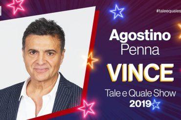 Tale e Quale Show 2019, trionfa Agostino Penna davanti a Francesco Monte