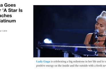Lady Gaga, Yahoo pubblica una foto di LIDIA SCHILLACI a Tale e Quale Show per parlare di A Star is Born