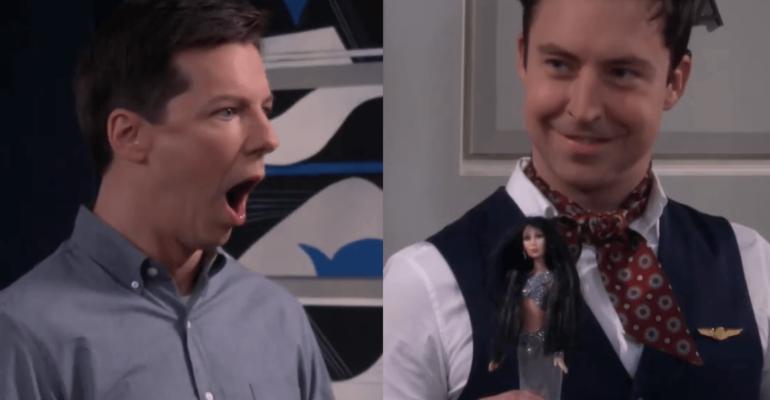 Will & Grace 11 è partito, la clip con la bambola CHER di Jack e i presunti attriti con Megan Mullally