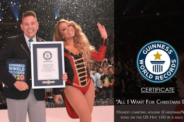 Mariah Carey entra nel GUINNESS WORLD RECORDS 2020 con All I Want for Christmas is You – foto