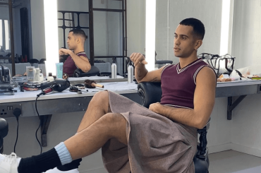 Mahmood in gonna, la foto social