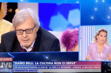 Vittorio Sgarbi vs. Barbara D'Urso, furiosa lite a Live – video