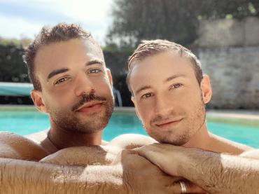 Matthew Mitcham ha sposato Luke, le foto hot del neosposo