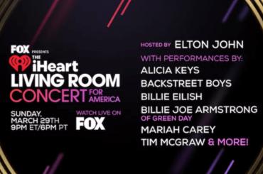 Coronavirus, arriva l'evento tv con Mariah Carey, Elton John, Alicia Keys e altri