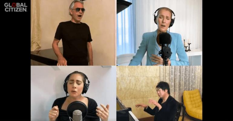 Together at Home, ecco THE PRAYER cantata da Lady Gaga, Celine Dion e Andrea Bocelli – VIDEO